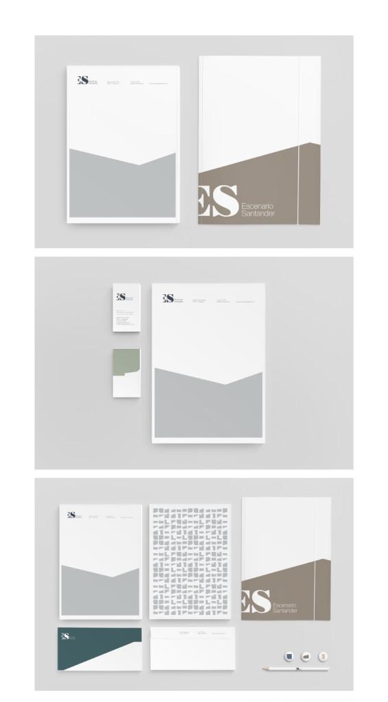 Elementos de papelería // Escenario Santander