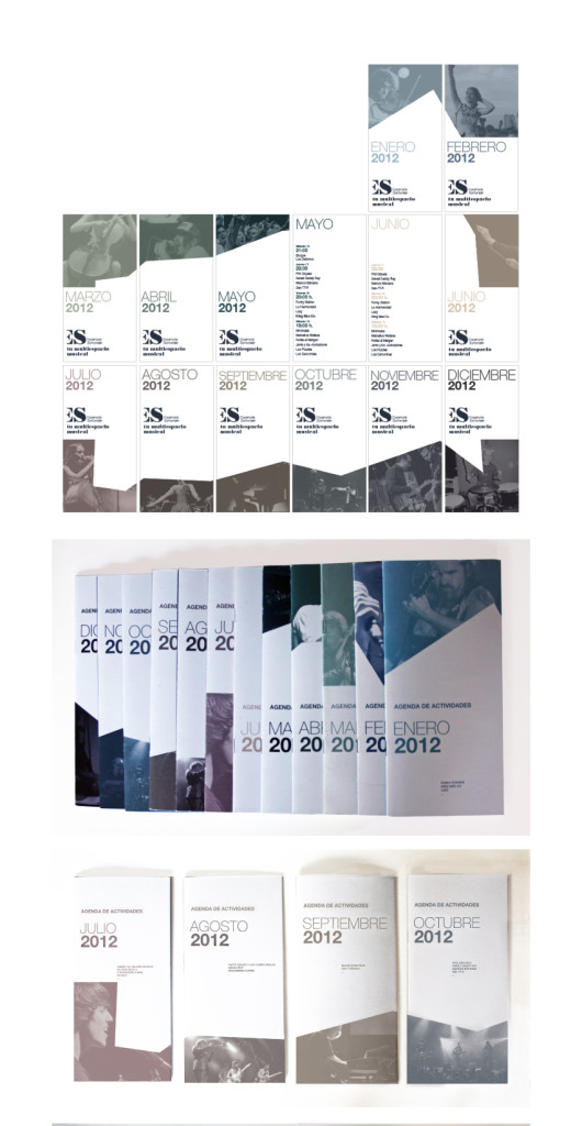 Agenda de actividades mensual // Escenario Santander