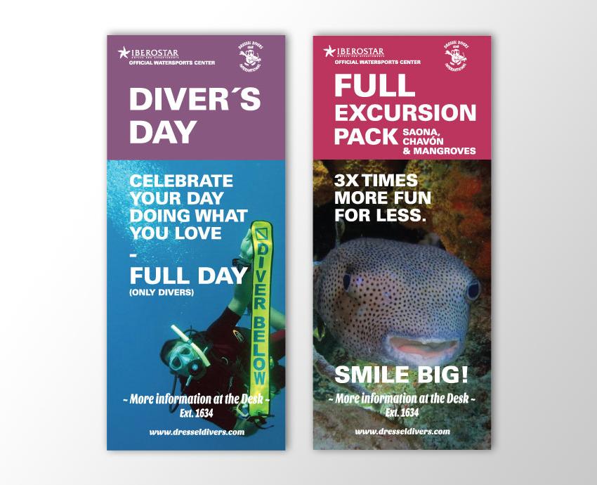 Flyers actividades acuáticas & buceo // Dressel Divers