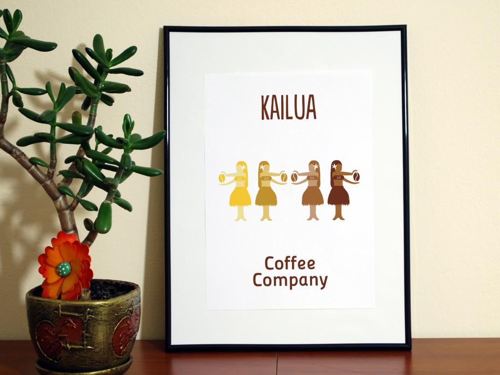 Aplicación del logo en lámina impresa // Kailua