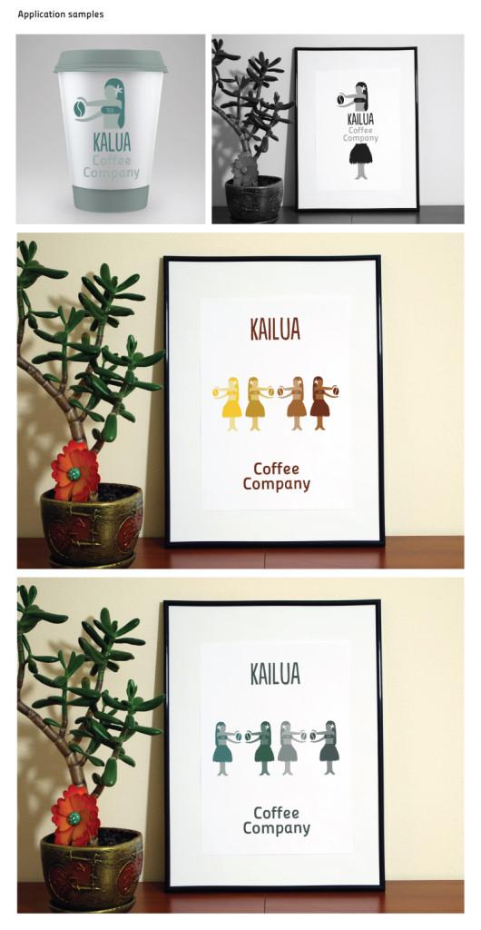 Ejemplos de aplicación de el logo // Kailua