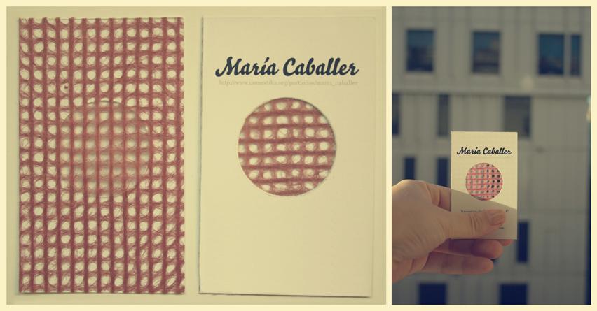 Tarjetas personales de visita // Maria Caballer