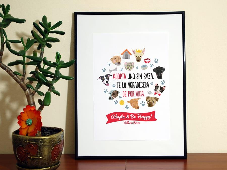 ilustración-enmarcada-Collares-Rojos-Campaña-Adopta-and-Be-Happy