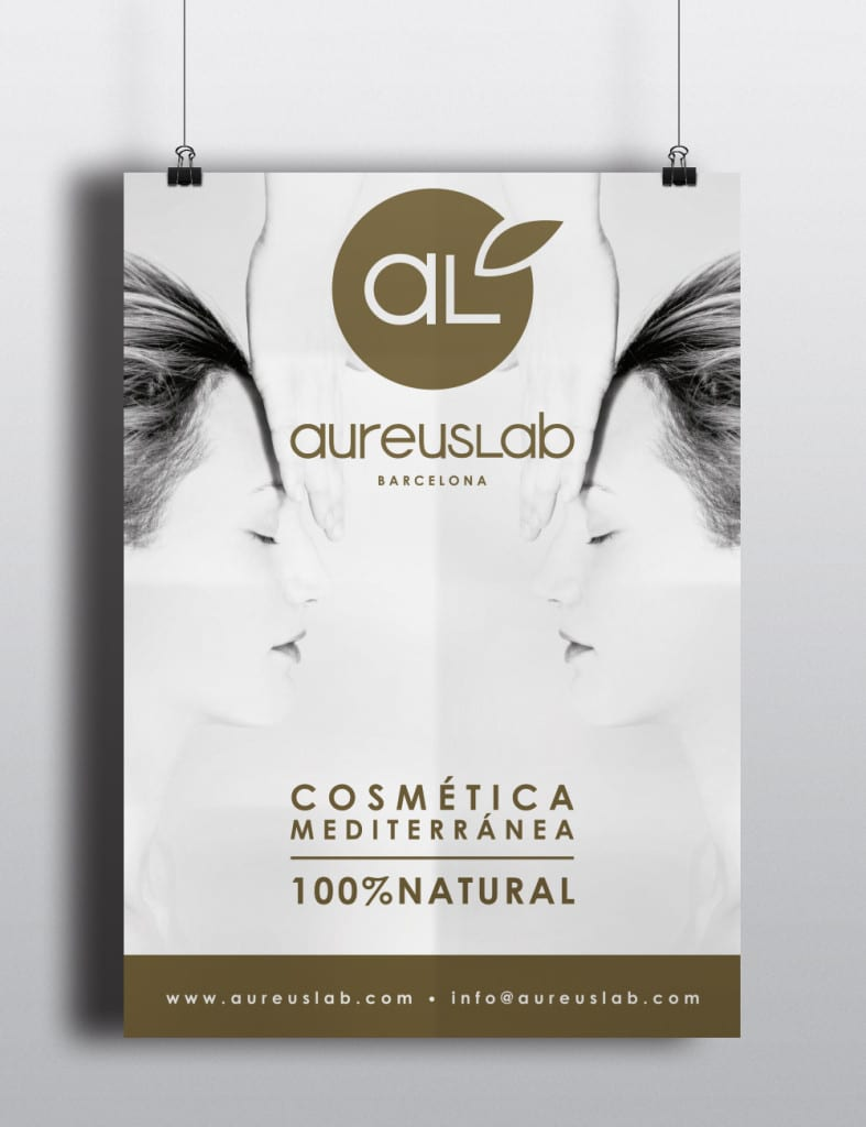poster-cartel-aureuslab-marca-imagen-aplicación-logo-diseño-impreso-print